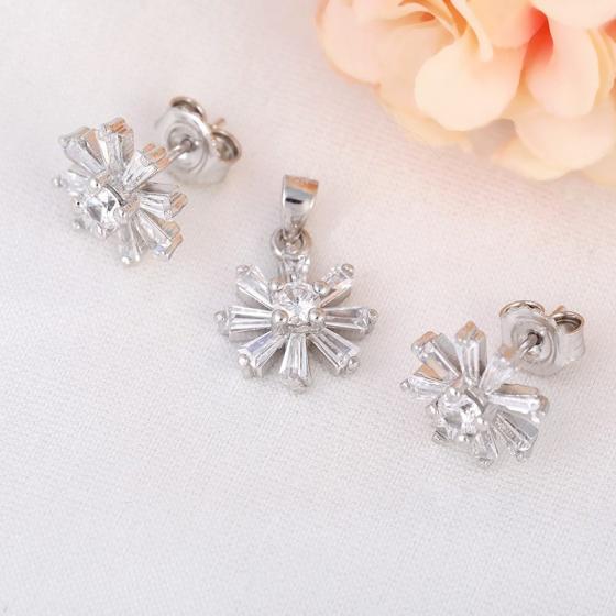 Bộ trang sức bạc Candice Flower