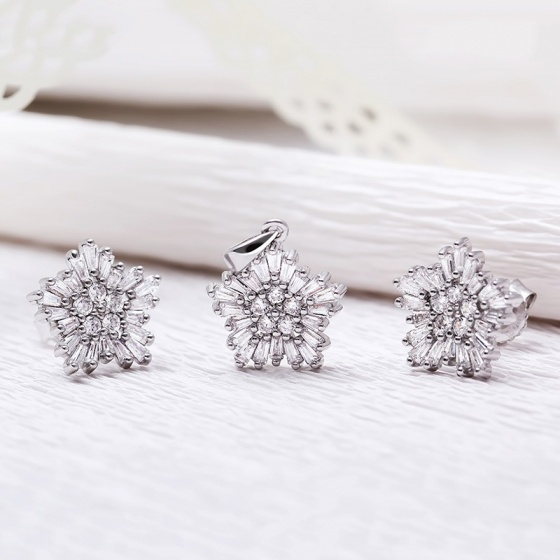 Bộ trang sức bạc Edsel Flower