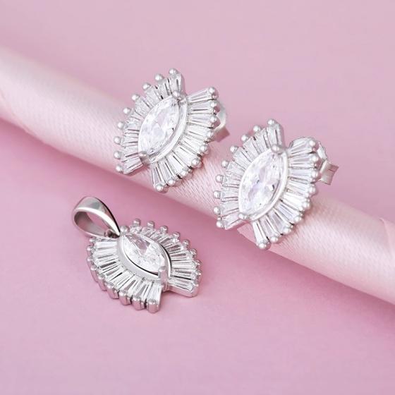Bộ trang sức bạc Graves Love