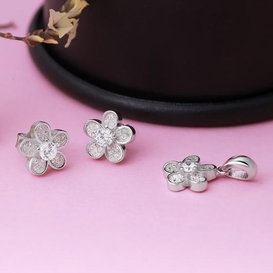 Bộ trang sức bạc Cherry Blossom