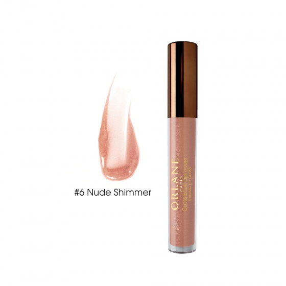 Son bóng Orlane có dưỡng môi 2 trong 1 số 6 Orlane Shinning Lip Gloss 6 Nude Shimmer 3ml