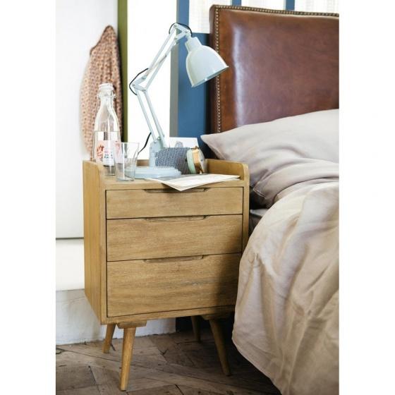 Tủ đầu giường Trocadero gỗ tự nhiên - Cozino