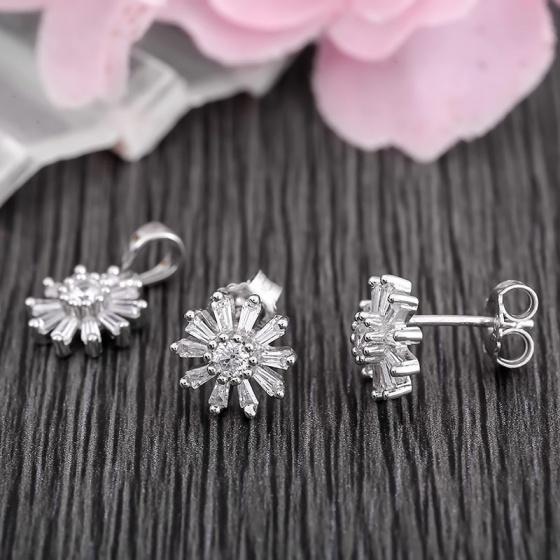 Bộ trang sức bạc Alice Flower