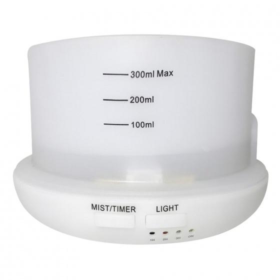 Máy khuếch tán tinh dầu hình trụ trắng 300ml FX2030 + tinh dầu sả chanh + tinh dầu cam Lorganic (10ml x2)