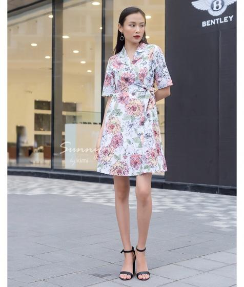 Đầm hoa bâu danton - AD180085
