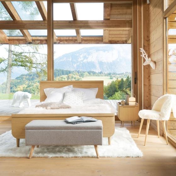 Tủ đầu giường Sunberry gỗ tự nhiên - Cozino