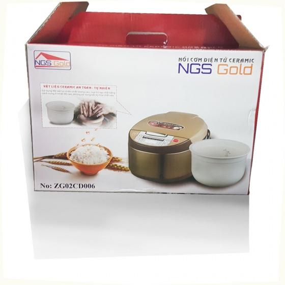 Nồi cơm điện tử lòng sứ ceramic 2,5L- NGS Gold