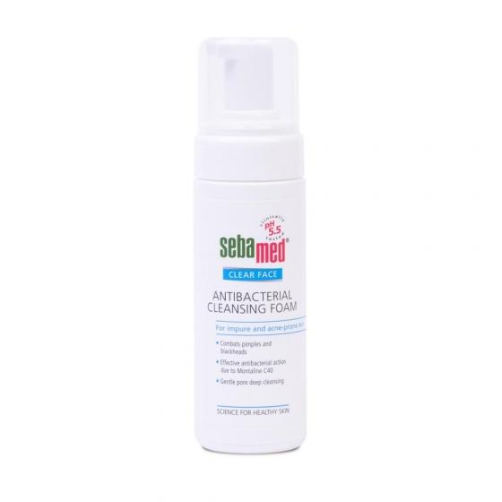Sữa rửa mặt tạo bọt kháng khuẩn trị mụn Sebamed pH5.5 (150ml)