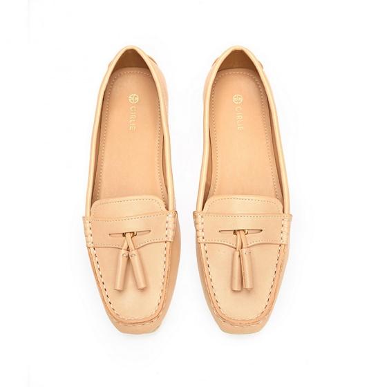 Giày mọi đính nơ S19268 - kem