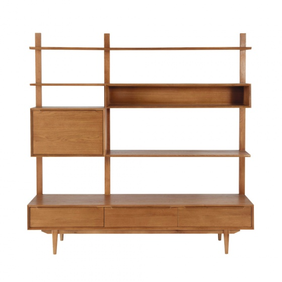 Tủ kệ tivi Portobello gỗ tự nhiên - Cozino