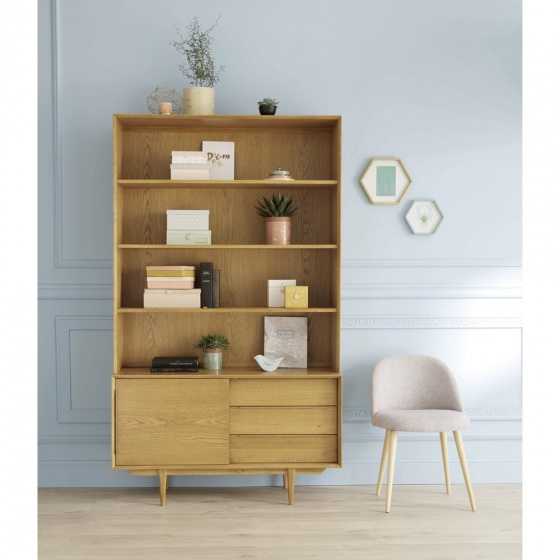 Tủ kệ sách Portobello gỗ tự nhiên - Cozino