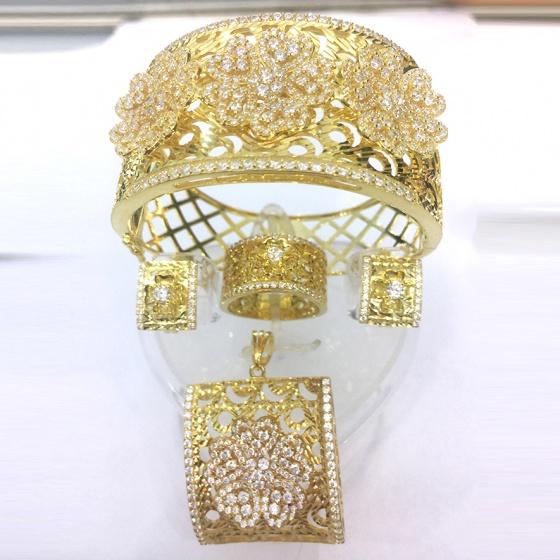 Bộ trang sức bạc mạ vàng 18k - SPB0981