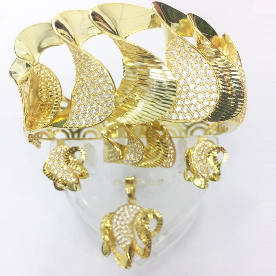 Bộ trang sức bạc mạ vàng 18k - SPB0983