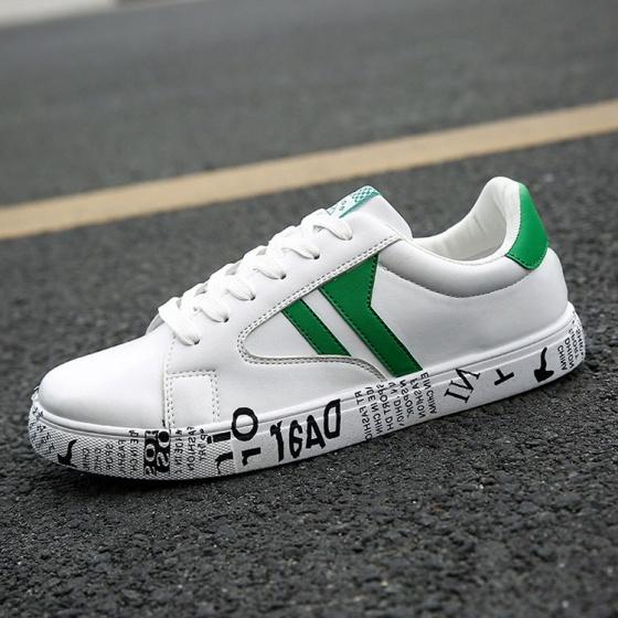 Rozalo RM5088-Giày sneaker nam thời trang thể thao da trắng