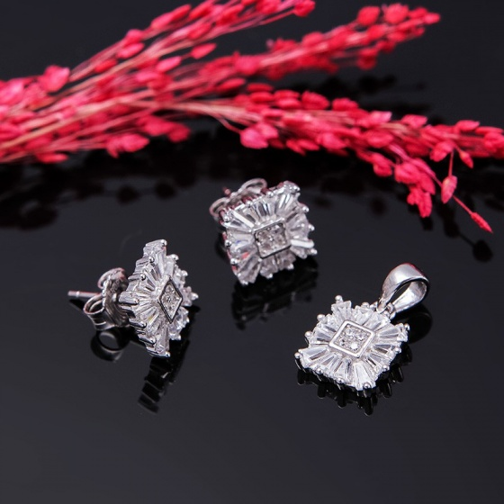 Bộ trang sức bạc Cheryl Love