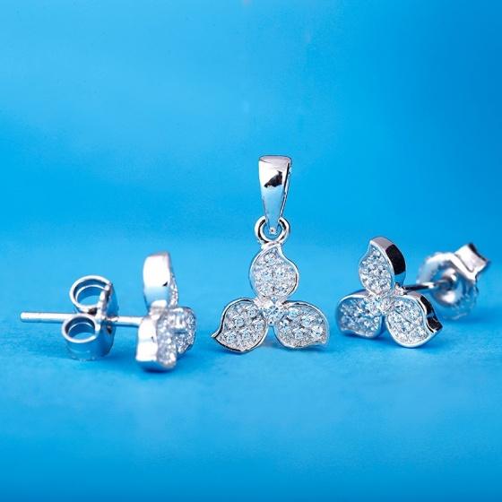 Bộ trang sức bạc Clover