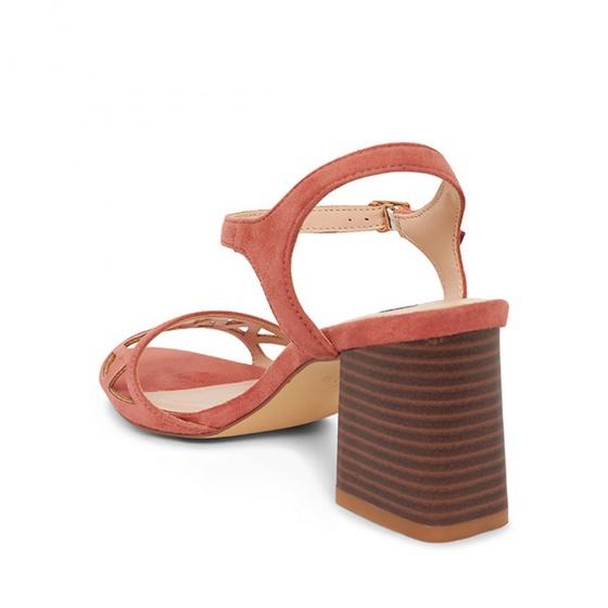 Sandals cao gót quai ngang hoạt tiết S25021- cam