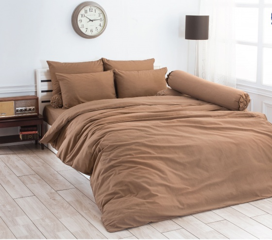 Bộ drap bọc nhập khẩu Thái Lan Toto brown (160 x 200 cm)