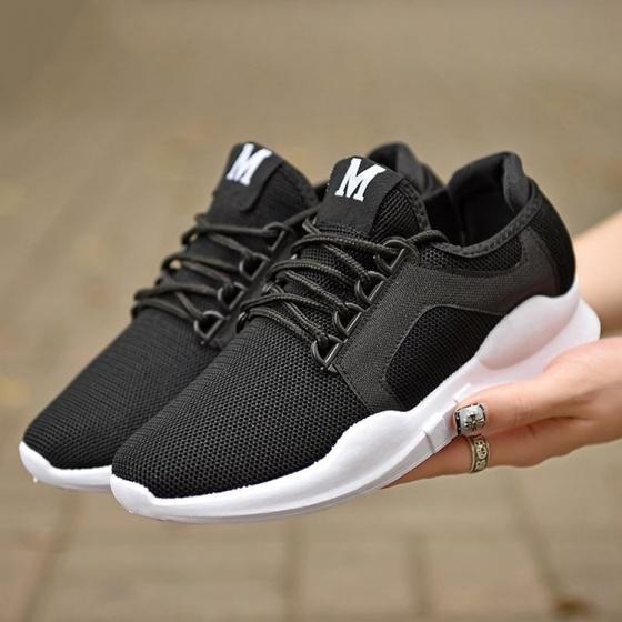Giày đôi sneaker thời trang nam Rozalo RZ8011BW- Đen