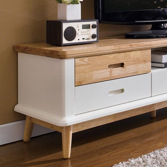 Tủ kệ tivi lớn Canna gỗ tự nhiên- Cozino