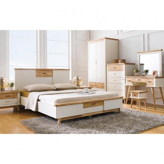 Giường đơn Canna gỗ cao su 1m2 - Cozino