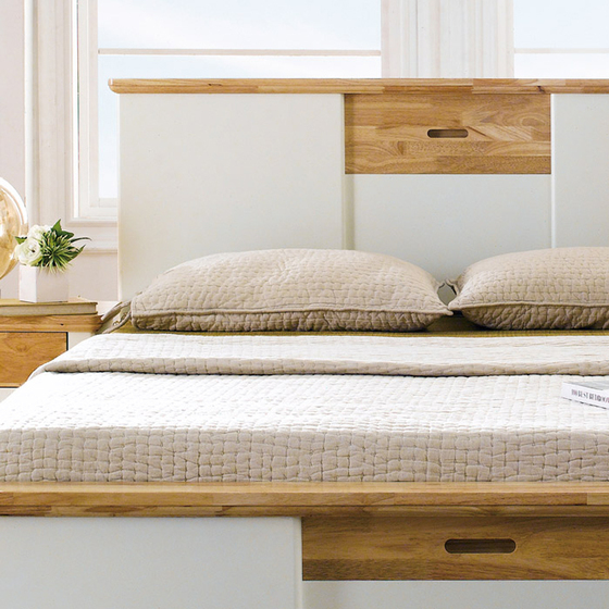 Giường đơn Canna gỗ cao su 1m4 - Cozino