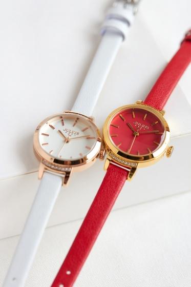 Đồng hồ nữ Julius Hàn Quốc dây da JA-1002 (5 màu)