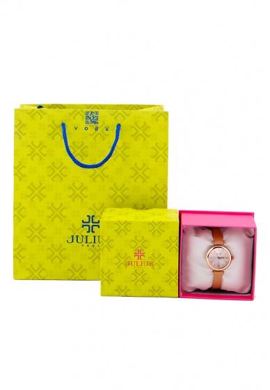 Đồng hồ nữ JA-1018 Julius Hàn Quốc dây da (5 màu)
