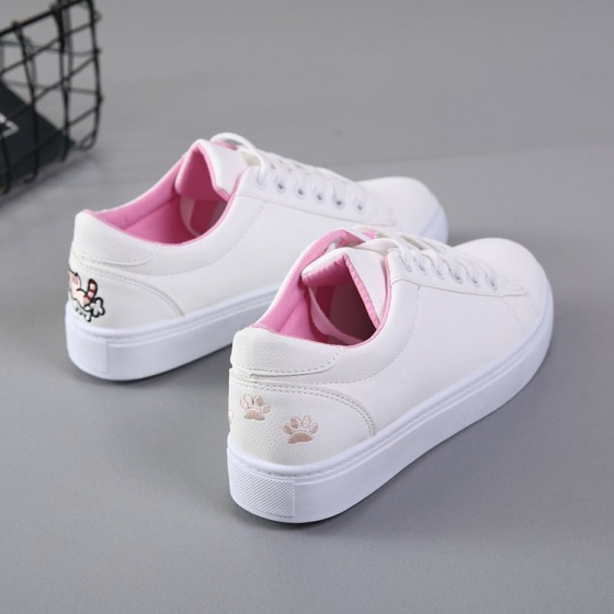 Giày sneaker nữ thời trang thêu mèo dễ thương Rozalo RM4655