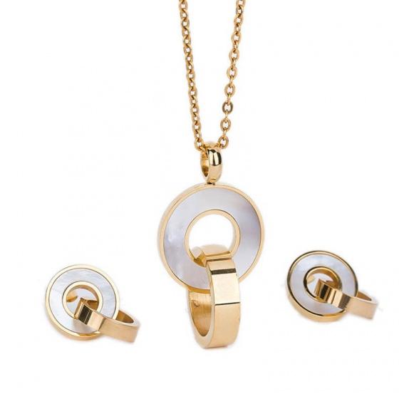 Bộ trang sức Titan Ominia - Tatiana - DT1072V (Vàng)