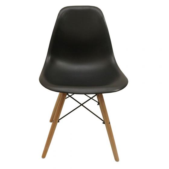 Bộ bàn Rec-Z đen màu cánh gián và ghế Eames chân gỗ đen