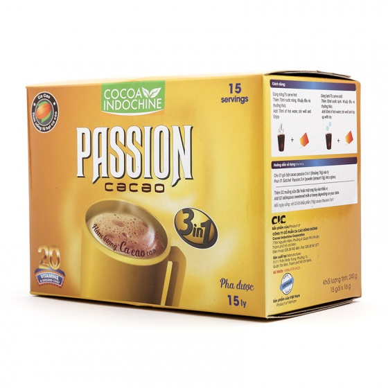 Cacao Passion  3 in 1 (15 gói x 16g) (Hộp Giấy)