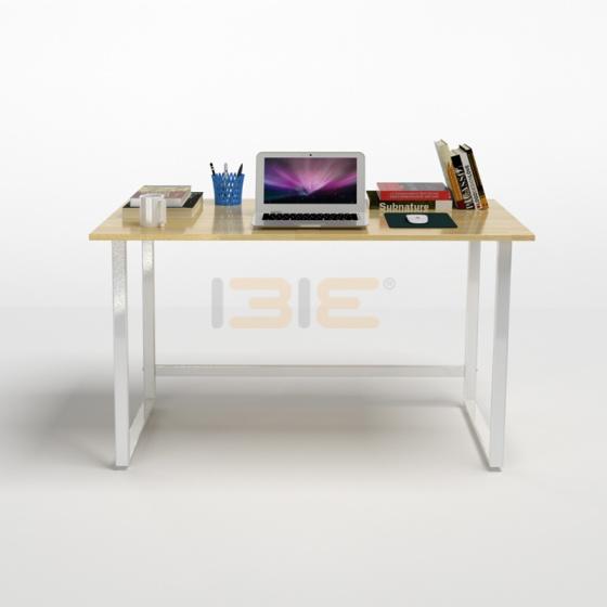 Bộ bàn Rec-F trắng gỗ cao su và ghế IB517 đen
