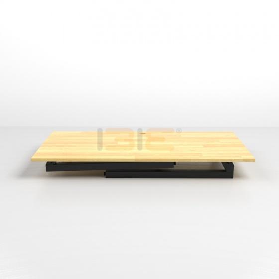 Bộ bàn Rec-T đen gỗ cao su và ghế IB16A đen - IBIE