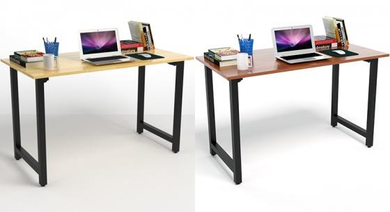 Bộ bàn Rec-T đen gỗ cao su và ghế IB517 đen - IBIE