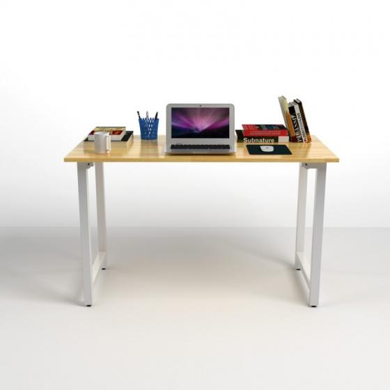 Bộ bàn Rec-T trắng và ghế IB517 đen - IBIE