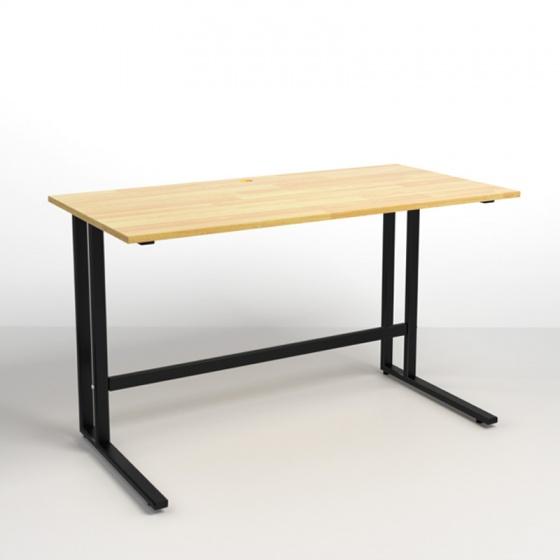 Bộ bàn Rec-U đen 1m2 gỗ cao su  và ghế Eames đen - IBIE