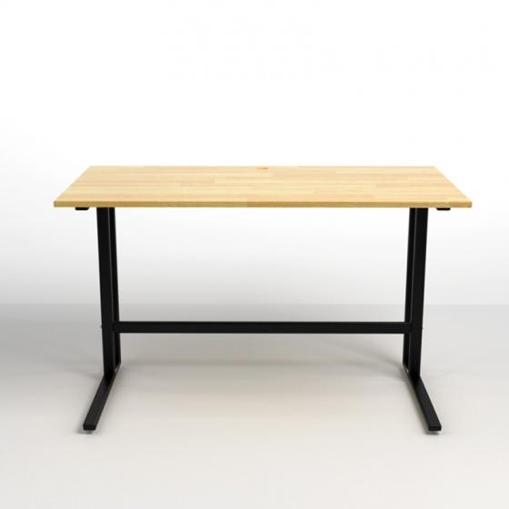 Bộ bàn Rec-U đen 1m2 gỗ cao su  và ghế Eames trắng - IBIE