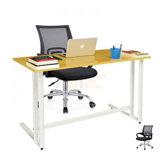 Bộ bàn Rec-U trắng gỗ cao su và ghế IB517 đen - IBIE