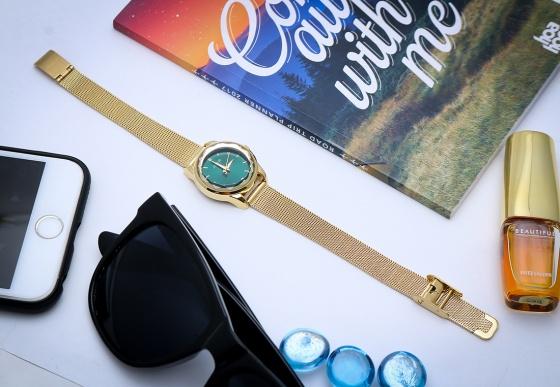 Đồng hồ nữ Julius Hàn Quốc dây thép JA-1040 lăng kính 3D (5 màu)