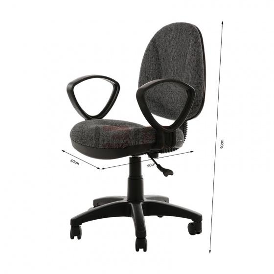 Ghế văn phòng IB505 màu xám không tay - IBIE