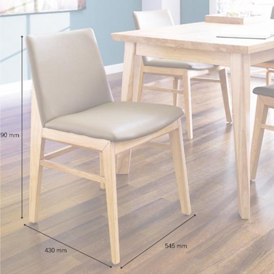 Bộ bàn ăn 4 ghế IBIE Zodax màu tự nhiên