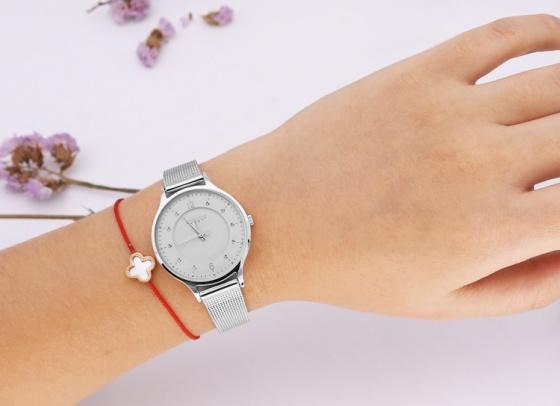 Đồng hồ nữ JA-1060 Julius Hàn Quốc dây thép (5 màu)