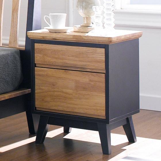 Tủ đầu giường Lantana 2 hộc gỗ cao su - Cozino