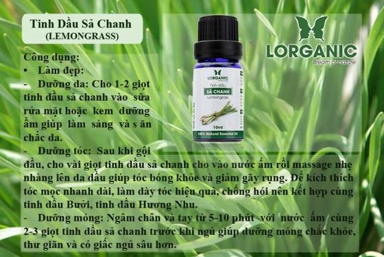 Combo tinh dầu sả chanh + bạc hà + tràm (10ml) - Lorganic