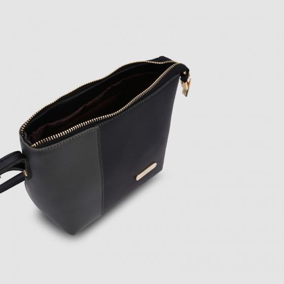 Túi đeo chéo nữ dáng chữ nhật phối màu Idigo FB2-119-00