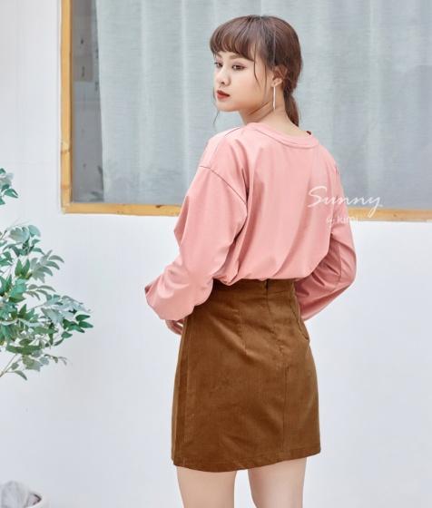 Chân váy ngắn đính nút-VN180022