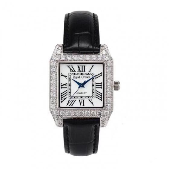 Đồng hồ nữ chính hãng Royal Crown dây da đen 6104
