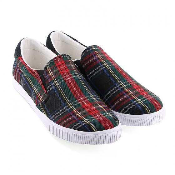 Giày lười nữ Sutumi W122- Caro đỏ