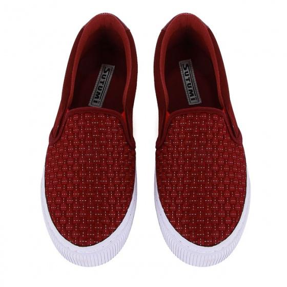 Giày lười nữ Sutumi W158 - Đỏ